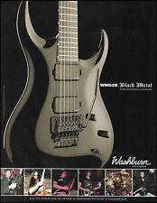 Washburn WM 526 WM526 Black Metal Idol guitar 8 x 11 advertisement 2009 ad print