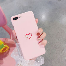For iPhone 8 5 6 6s 7 Plus Slim Matte Shockproof Love Heart Hard Back Case Cover
