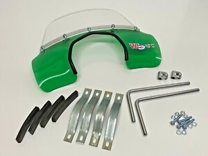 LAMBRETTA SX LiS TV GT S3 TRANSPARENT GREEN MOD STYLE FLYSCREEN WITH FIXINGS