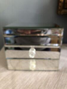 mirrored jewellery Box Trinkets Drawers