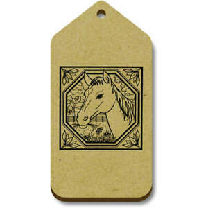 'Square Horse Motif' Gift / Luggage Tags (Pack of 10) (TG007220)