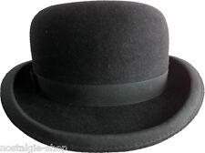 Melone Wolle Hut Steampank Gothic Bowler Coke Hat Rockabilly Cap Charlie Chaplin
