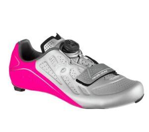 PEARL iZUMi Elite Road V5 Cycling Shoe - Women's Size 39.5 - Pink/Silver - Boa