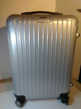 RIMOWA ESSENTIAL CABIN S SILVER FINISH HARDSIDE CARRY ON SUITCASE EXCELLENT