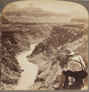 Antique Stereoview, Underwood & Underwood, Grand Canyon, Colorado River, Arizona