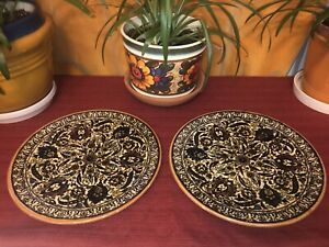 Armenian Ceramic Pottery Plates Vintage