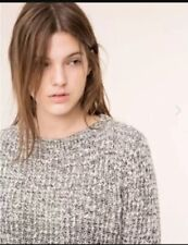 Pull and Bear Black & White Mixed Tweed Knit Casual Jumper - BNWT - Size XS