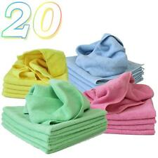 20 x Micro Fibre Cloths Large Super Soft Washable Colours Duster Car Home Work