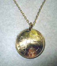 Coin jewelry~Barbados Golden Lighthouse necklace