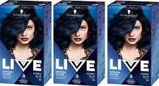 3 X Schwarzkopf Live Color Cosmic Blue 90
