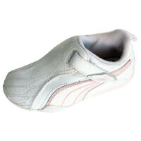 Infants Kids Boys Girls Puma Trainers White Strap Fasten Casual Trainers UK 6