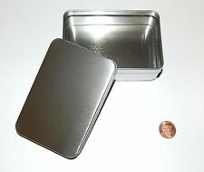 6-oz Rectangular Slip On Lid Survival Metal Tin Can Container Box - Use 4 Crafts