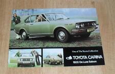 Toyota Carina Deluxe Saloon Brochure / Flyer 1973