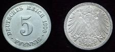 5 Pfennig - 1909 D - Kaiserreich - Deutsches Reich      (571)**