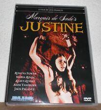 Marquis de Sade's Justine DVD JESS FRANCO 1968 NEW