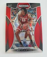 Nic Claxton 2019-20 Panini Prizm Draft Picks Card #96  Red Rookie RC Georgia