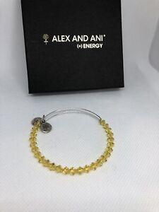 Alex And Ani Swarovski Yellow With Silver Tone Bracelet