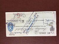 b1u ephemera cashed barclays bank cheque nov 1947 24368