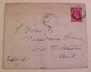SIERRA LEONE ENTIRE 1907 FREETOWN TO ENGLAND