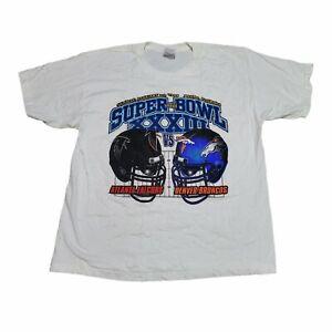 Vintage 1999 Super Bowl XXXIII 33 Broncos vs Falcons T-Shirt Size Men's Size XL