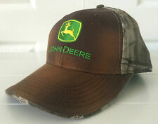 John Deere Washed Brown & Realtree Hardwoods Camo & Orange Hat Cap