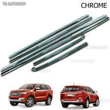 Chrome Line Window Sill Cover Trim Fits Ford Everest Suv 2.2 3.2 2016 2017 2018