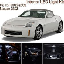 For Nissan 350Z 2003-2009 White Interior LED Light kit + White License Light