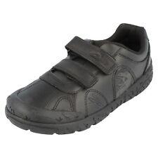 Clarks Boys Infant BrontoStep F Fit Black Leather Shoe (R29A)