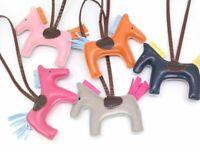 Handbag Leather Horse Pendant Handmade Pony Purse Keychain Animal Bag Charm Ring