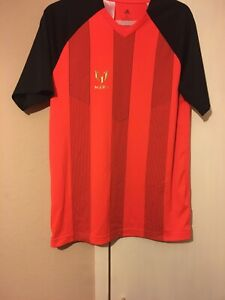 Boys Red Addidas Messi Football Top