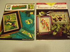 Vintage Cross Stitch Pattern and Magazine Lot of 8