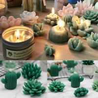 20 Types Succulent Cacti Candle Silicone Moulds Soap Molds DIY Craft Plaster New