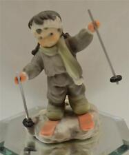Kim Anderson PAAP FIGURINE Girl on Skis 375918 in BOX FREEusaSHIP