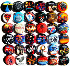 JUDAS PRIEST Button Badges Pins Defenders of the Faith Metal Gods Lot of 36