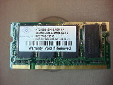 NANYA LAPTOP SO-DIMM MEMORY PC2700S-25300 256MB 333Mhz