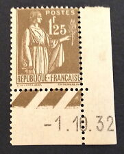 timbre france, n°287, 1f25 olive, xx, CN, cote 215e