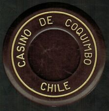 Chile Casino Chip- Casino de Coquimbo - valueless - roulette cafe oscuro/blanco