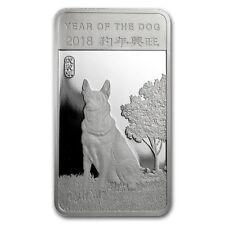 0,5 pouces USA Lunaire Année de Chien Year of the Dog 2018 Argent 999