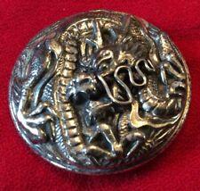 STERLING DRAGON PIN—VTG NAPIER STERLING ORIENTAL DRAGON PIN