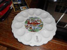 Vintage North Carolina Tarheel State  Deviled Egg Plate Tray Platter Server Dish