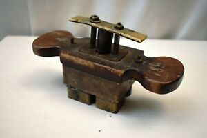 """Antique Brass Biscuits Seal Stamp Cookie Cutter Press Embosser Mould Baking Old"""""""