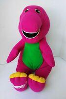 "1992 Playskool BARNEY Dinosaur Talking Interactive 18"" Plush Vintage Stuffed Toy"