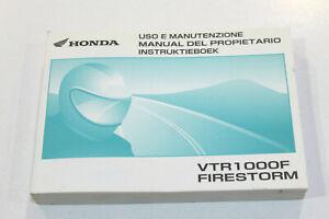 HONDA Livret Utilisation et Entretien Pour VTR1000F Firestorm 2002