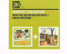 FAIRPORT CONVENTION - What We Did + Unhalfbricking 2CD Set 2 for 1 remastered