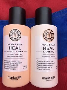 Maria Nila Head & Hair Heal Shampoo & Conditioner 100ml 100% Genuine Product New