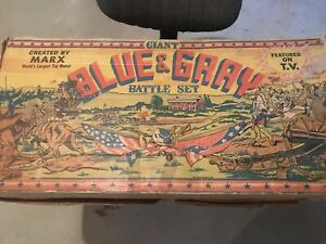 Marx Original Giant Blue and Gray Playset