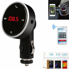 New Bluetooth Wireless LCD MP3 USB Car FM Transmitter + Remote + AUX Cable #599
