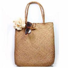 Women Casual Straw Bag Summer Beach Woven Bag Shoulder Bag Tote Shoulder HandBag