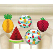 SUMMER FRUIT DELUXE HANGING DECORATIONS (5pc) ~ Birthday Party Supplies Lantern