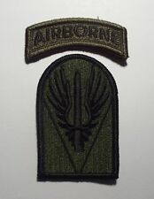 NOS US Army Joint Readiness Training Center Subdued Uniform Unit Patch SSI